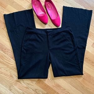 Level 99 Black Stretch Faux Suede Flared Pants